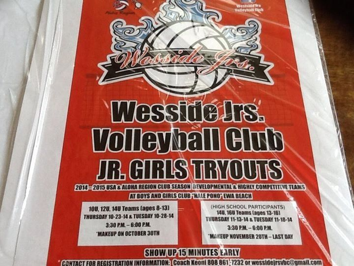 Wesside Jrs Volleyball Club 2015 Tryouts Volleyball Clubs Club Volleyball