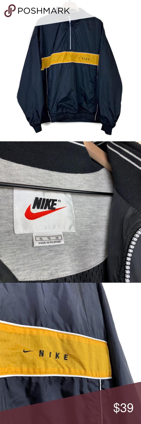 Vintage Nike Half Zip Pullover Windbreaker Jacket Pullover Windbreaker Vintage Nike Half Zip Pullover