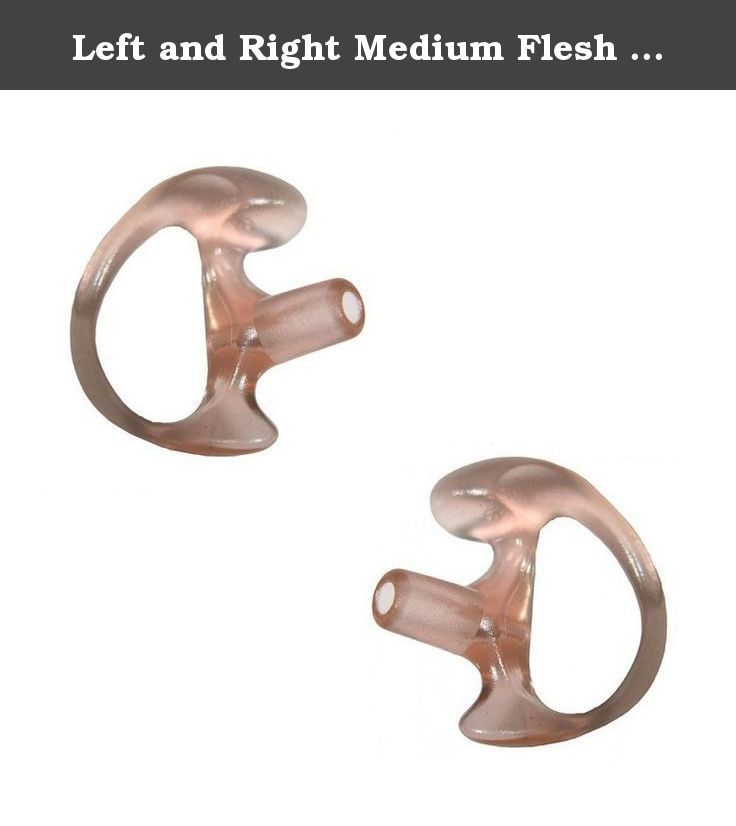 MOLDED EAR GEL INSERT TIP FOR ACOUSTIC TUBE RIGHT LARGE EARPIECE RADIO CLEAR