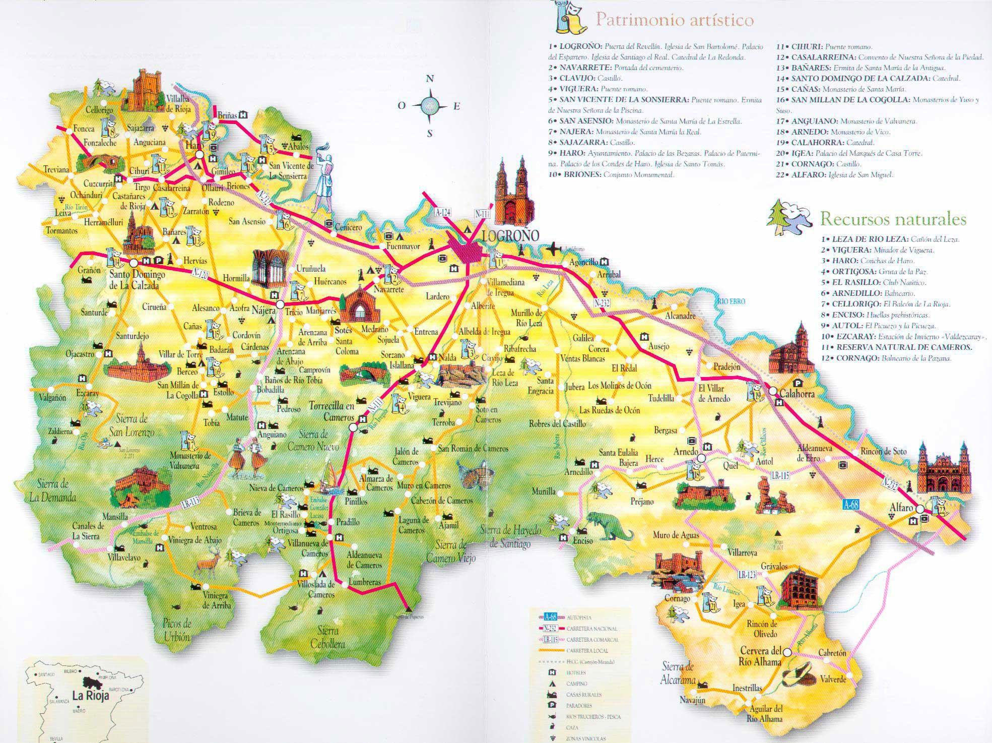 Alfaro mapa de La Rioja ampliado Hispania primaria romana