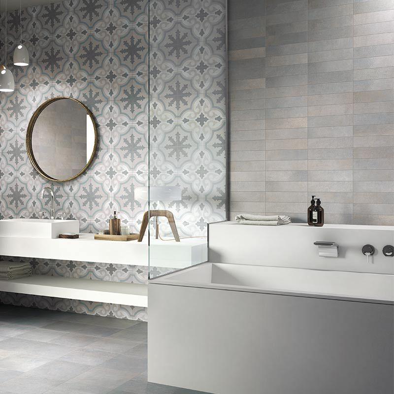 Hardys24 Badezimmer Fliesen Bodenfliese Runde Badezimmerspiegel