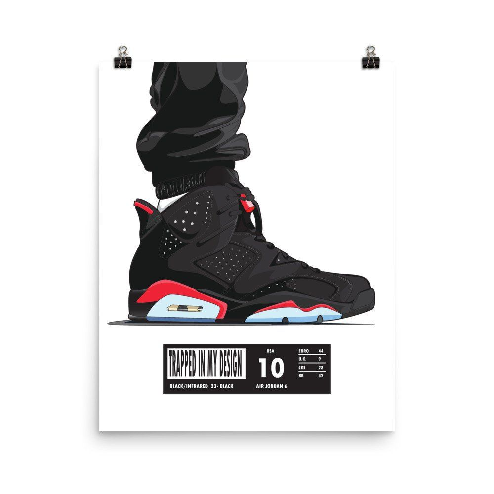Infrared 6 Poster Sneakers Wallpaper Poster Infrared