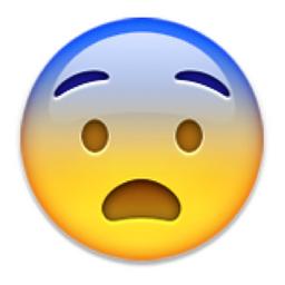 Fearful Face Png 256 256 Emoji Scared Emoji Face