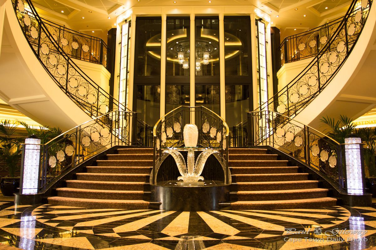Staircase Inside The Oceania Marina Cruise Ship Regal Routes - Inside of cruise ships pictures