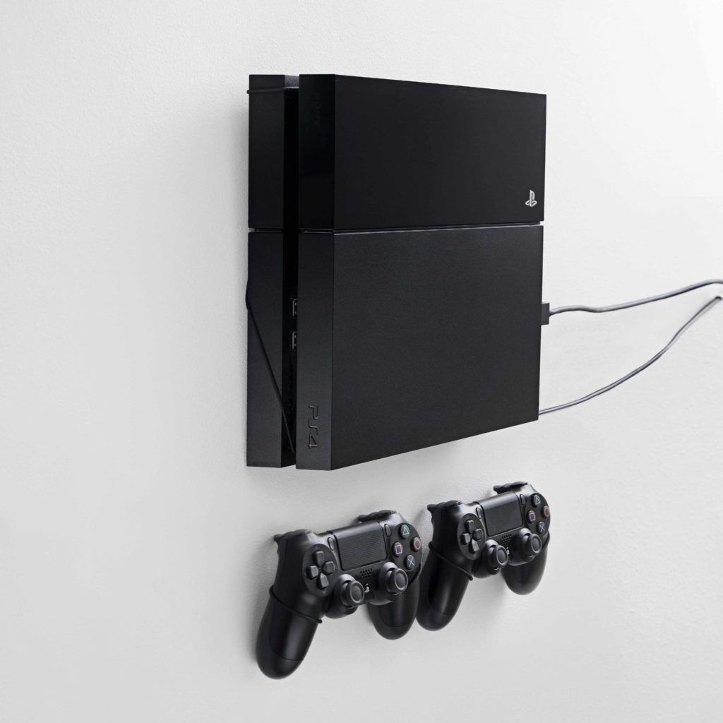 Playstation 4 Ps4 Wall Mounts By Floating Grip Display Your Ps4 Ps4 Wall Mount Wall Mounted Tv Tv Wall