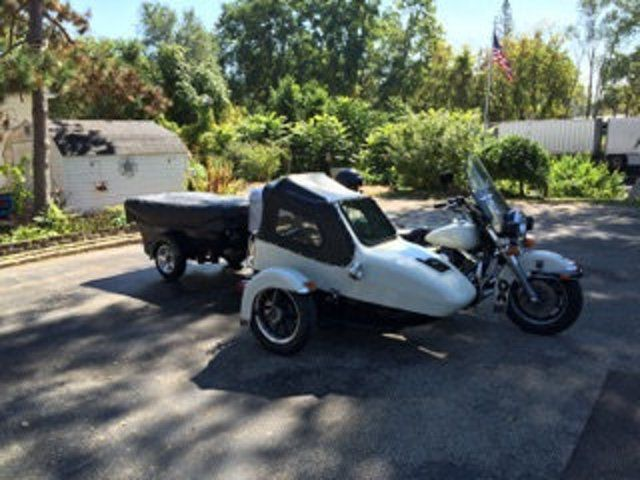 Harley Davidson Road King Police Sidecar With Camper Flhp Road King