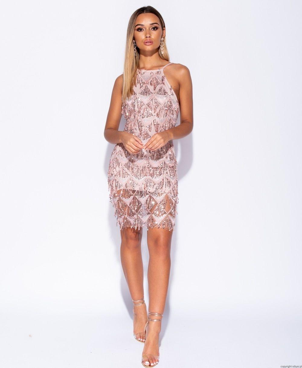 cc536f51a2 Vicky -Sukienka z cekinami (cekinowe łezki)