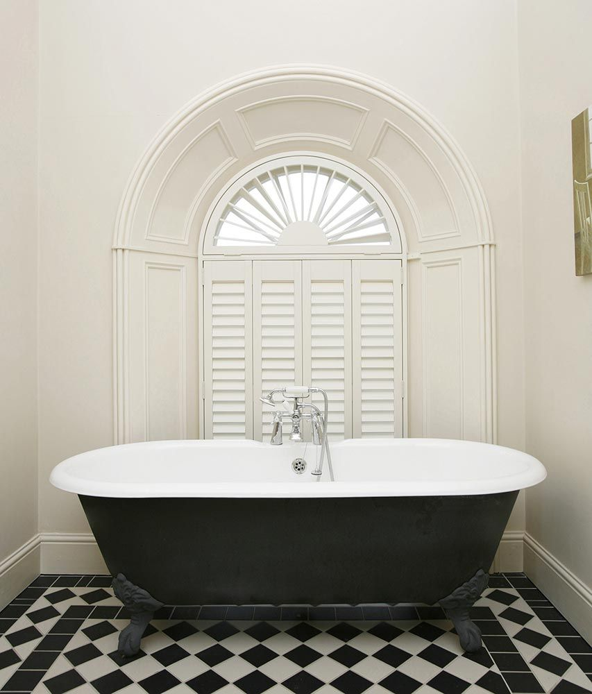 Bathroom Windows London white shutters | bathroom | made to measure shutters | rimini