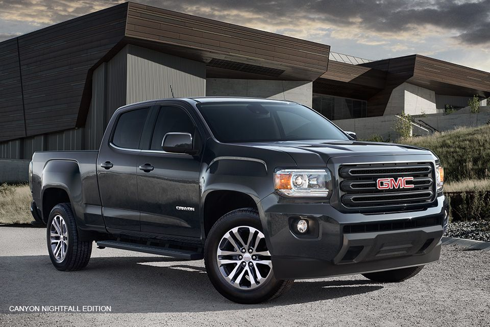 the 2016 gmc canyon nightfall edition mid size pickup. Black Bedroom Furniture Sets. Home Design Ideas