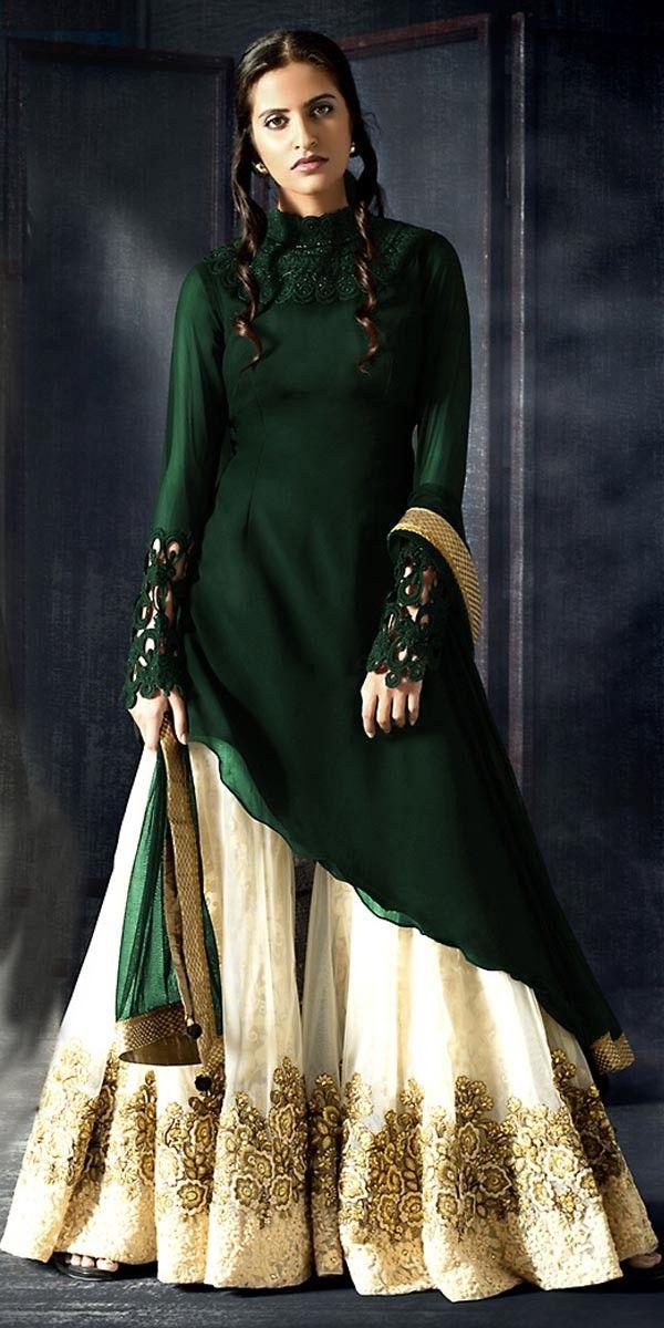 d8360f312f48 Dazzle Green Georgette Straight Suit With Dupatta. Dazzle Green Georgette  Straight Suit With Dupatta. Pakistani Dresses Shalwar Kameez, Latest Salwar  Kameez