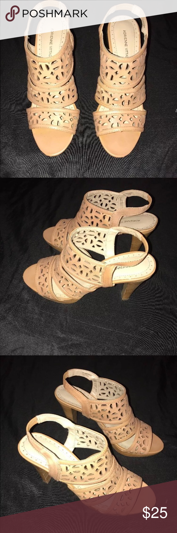Adrienne Vittadini heels Tan heels size 6.5 very good condition 😊 Adrienne Vittadini Shoes Heels