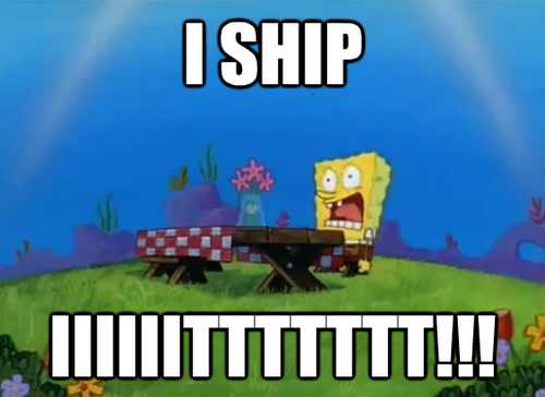 I don't ship it . . . I don't ship it. . .I definitely don't ship it. . . I ship iiiiiittttttt!!!