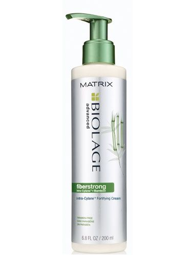 Matrix Biolage Fiberstrong Intra-Cylane Fortifying Cream: This leave-in conditioner will soften your hair, while fortifying weak and fragile strands. $15.60; beautybar.com #thinninghair