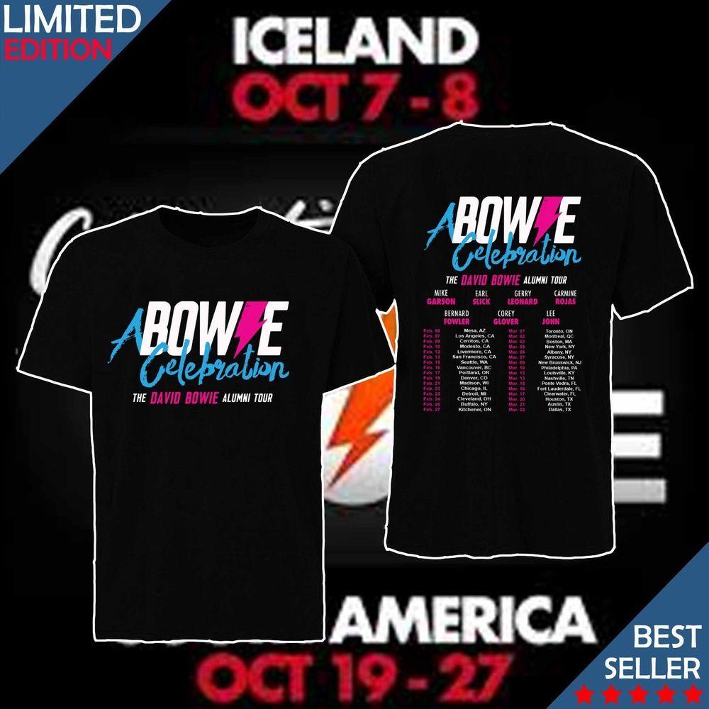 A BOWIE CELEBRATION The David Bowie Alumni Tour dates 2019 T-shirt