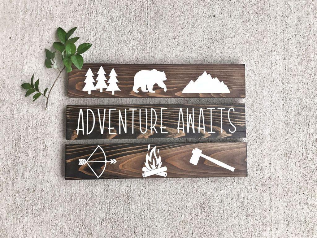 Adventure Nursery Ideas - Boy Mountain and Arrow Nursery Theme images