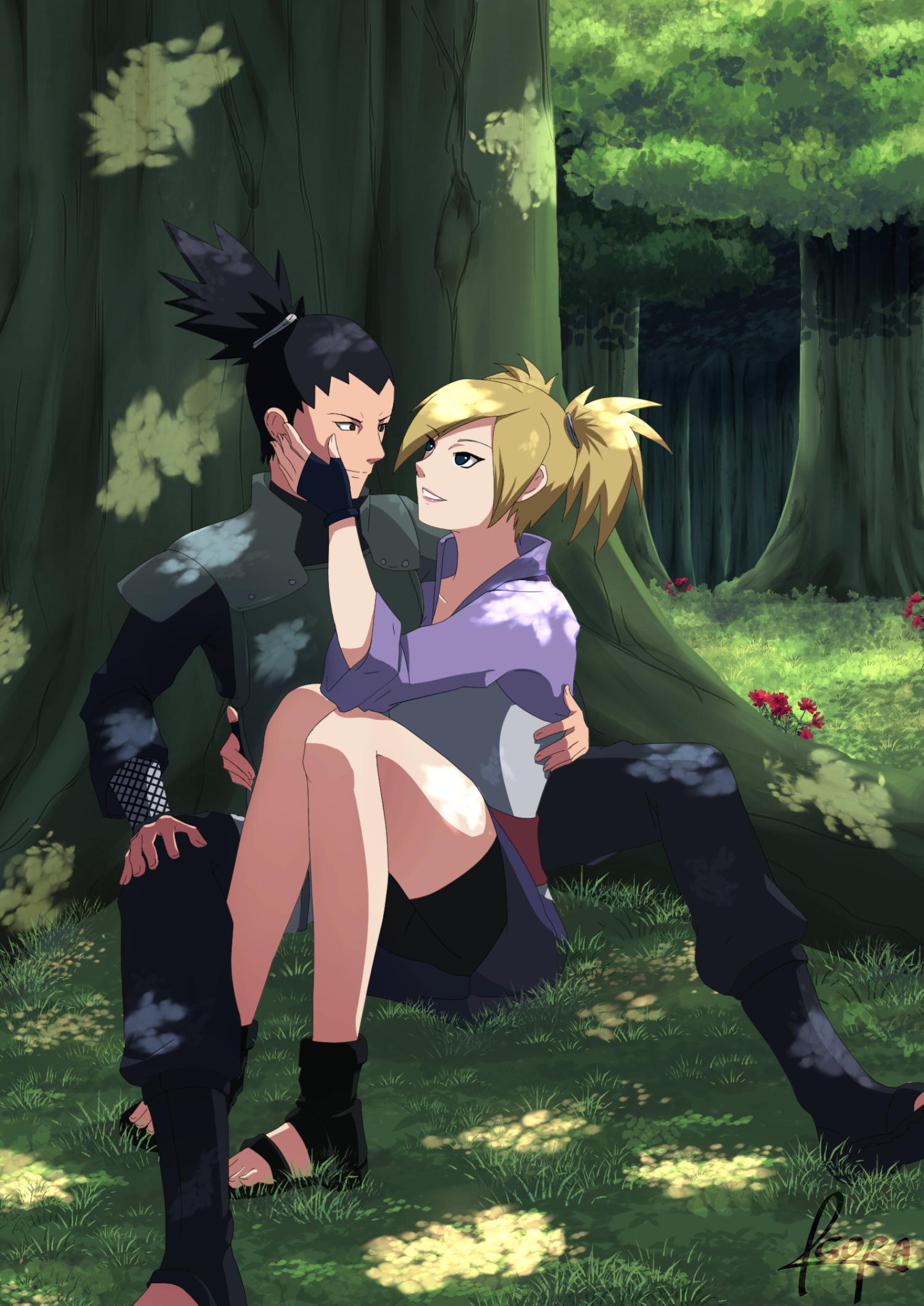 Shikamaru & Temari | anime | Naruto shikamaru temari ...