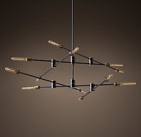 Restoration Hardware Kinetic Two Tier Chandelier Dark