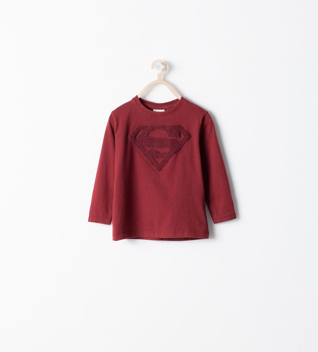 9d0b99bc Image 1 of SUPERMAN EMBROIDERED T-SHIRT from Zara | Rishi Birthday ...