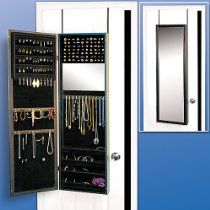 Over Door Mirror Armoire // Description Over Door Mirror And Jewelry Armoire  Is An Attractive