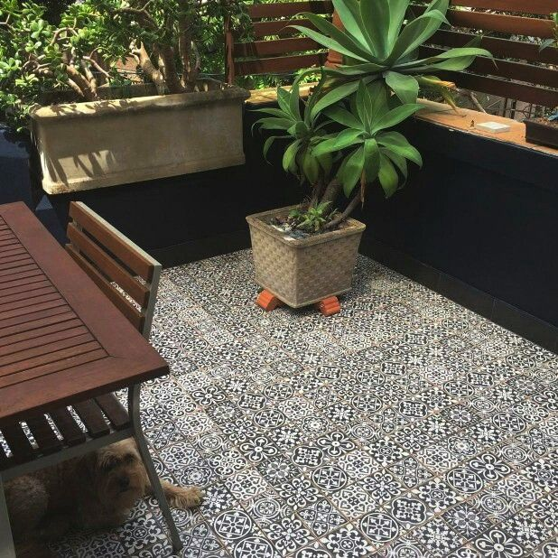 Our Spanish Patterned Vintage Floor Tiles Used On A Sydney