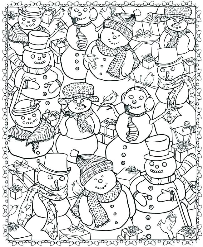 Printable Winter Colouring Pages Cinebrique