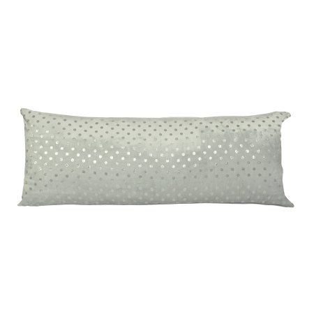 Walmart Body Pillow Cover Mainstays Kids Metallic Polka Dot Grey Body Pillow Cover Gray