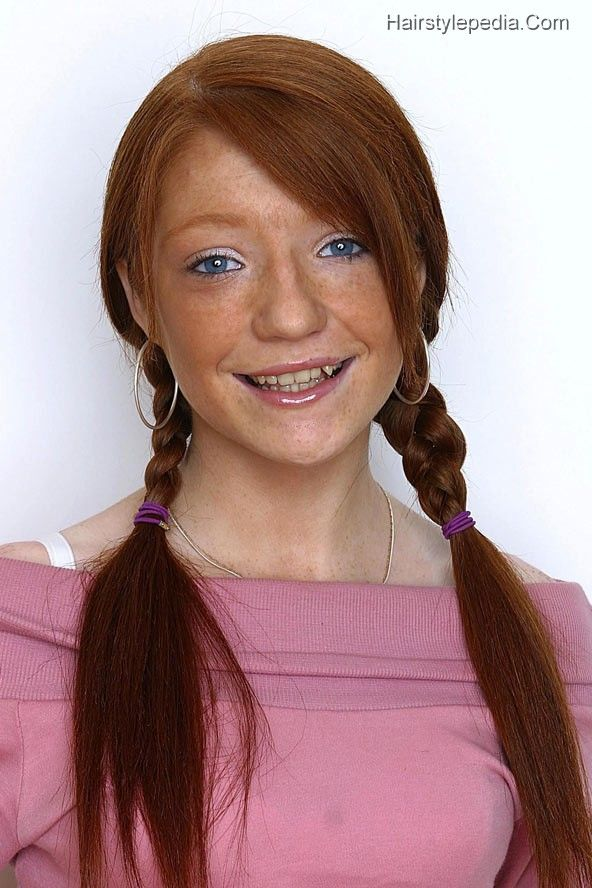 Redhead with pigtails