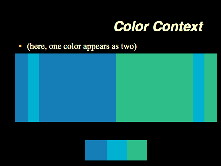 Color theory simultaneous contrast explanation and diagrams color theory simultaneous contrast explanation and diagrams fandeluxe Image collections