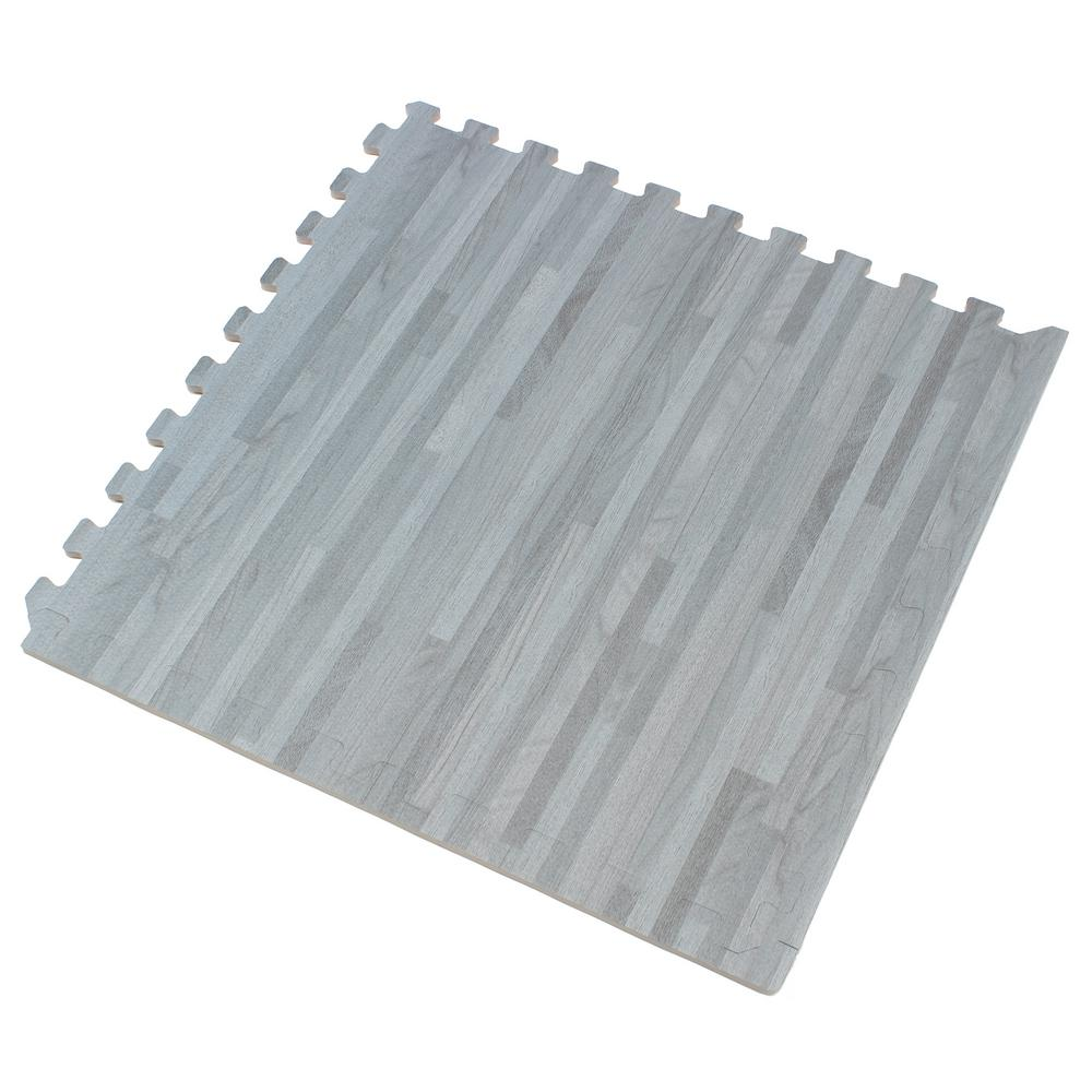 Forest Floor Slate Printed Wood Grain 24 In X 24 In X 3 8 In Interlocking Eva Foam Flooring Mat 24 Sq Ft Pack Ff24slate1 10m The Home Depot In 2020 Foam