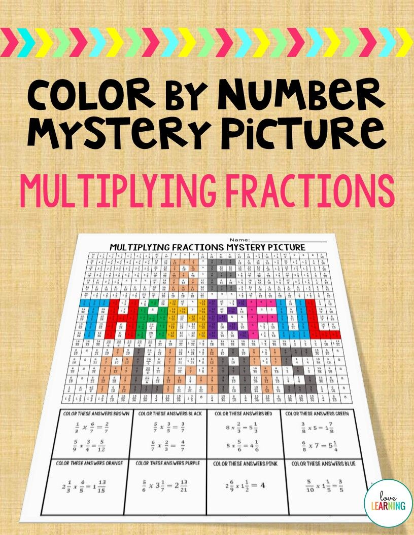 This color by number mystery picture is a great way to