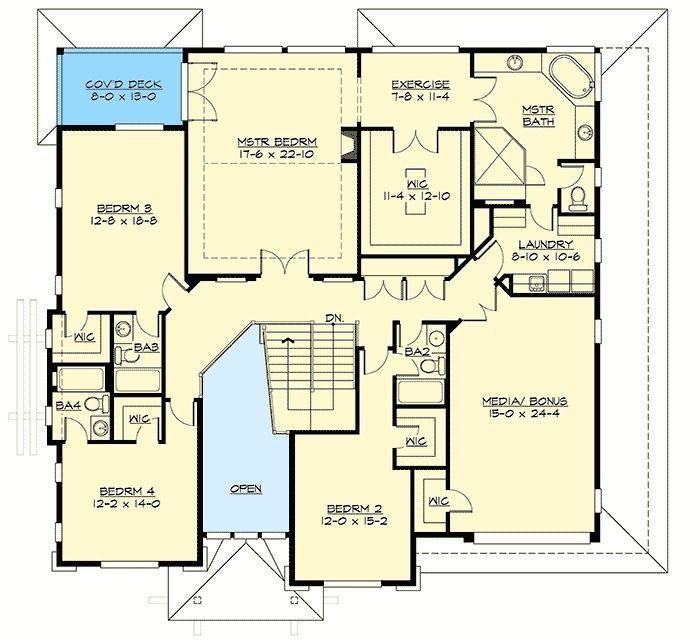 Plan 23682jd Stunning Prairie Modern House Plan With 3 Car Tandem Garage House Plans Modern House Plan