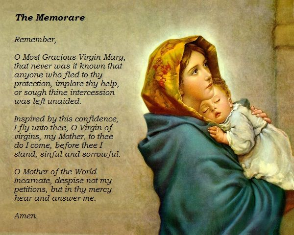 The Memorare With Images Mary And Jesus Jesus Christ Images