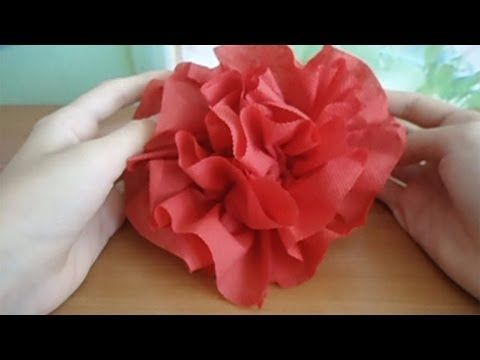 How To Fold A Napkin Into A Lotus Flower Youtube Illustration