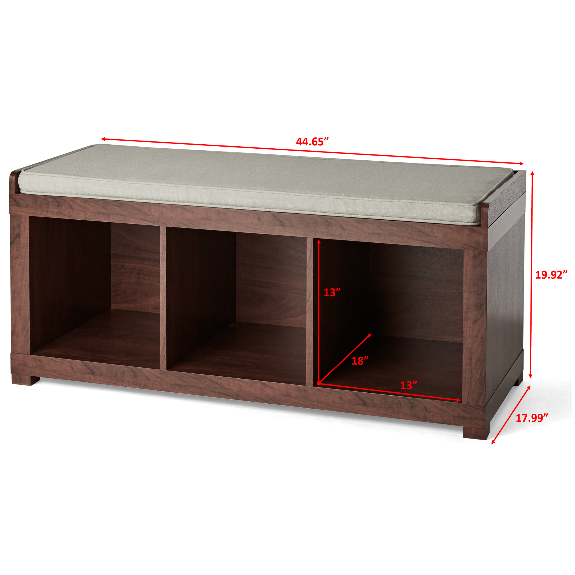 f500ee476cffa3662dbb08069311bb51 - Better Homes And Gardens 3 Cube Organizer Bench With Cushion