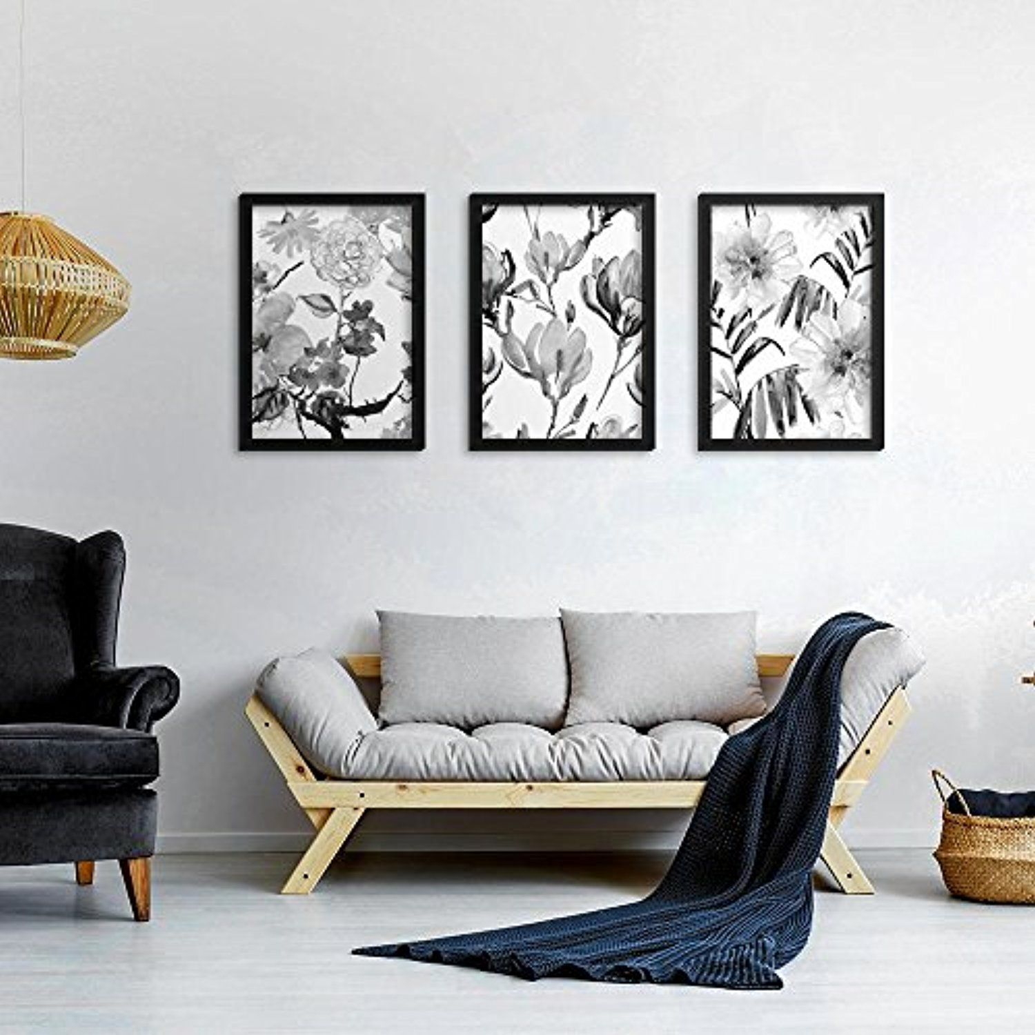 Wall Art Prints And Posters Set Of 3 Bloom Poster Set Inspirational Art Prints 3 Pcs Framed