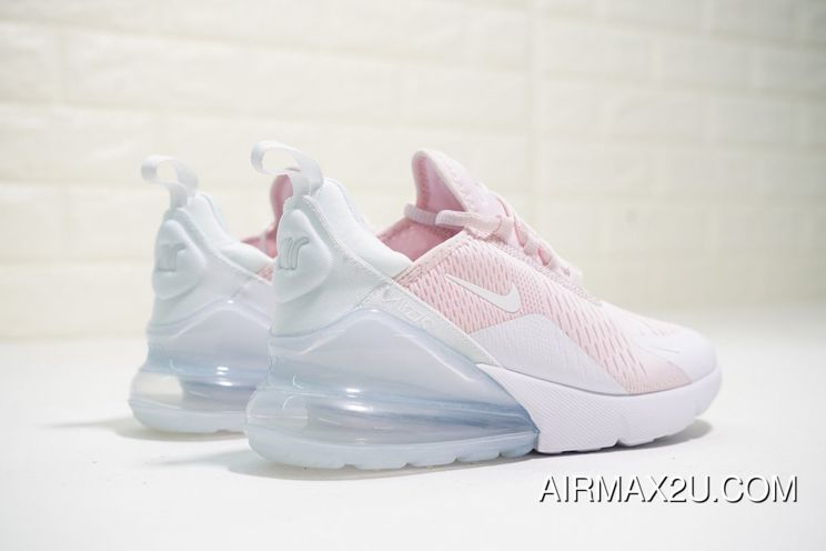 Women Nike Air Max 270 Light Pink Pure White New Release Pantofi