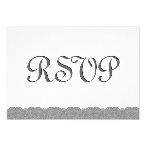 #Gray #White #Lace #RSVP #Wedding #Response #Invitation http://www.zazzle.com/gray_and_white_lace_rsvp_wedding_response_v034_invitation-161354112635692923