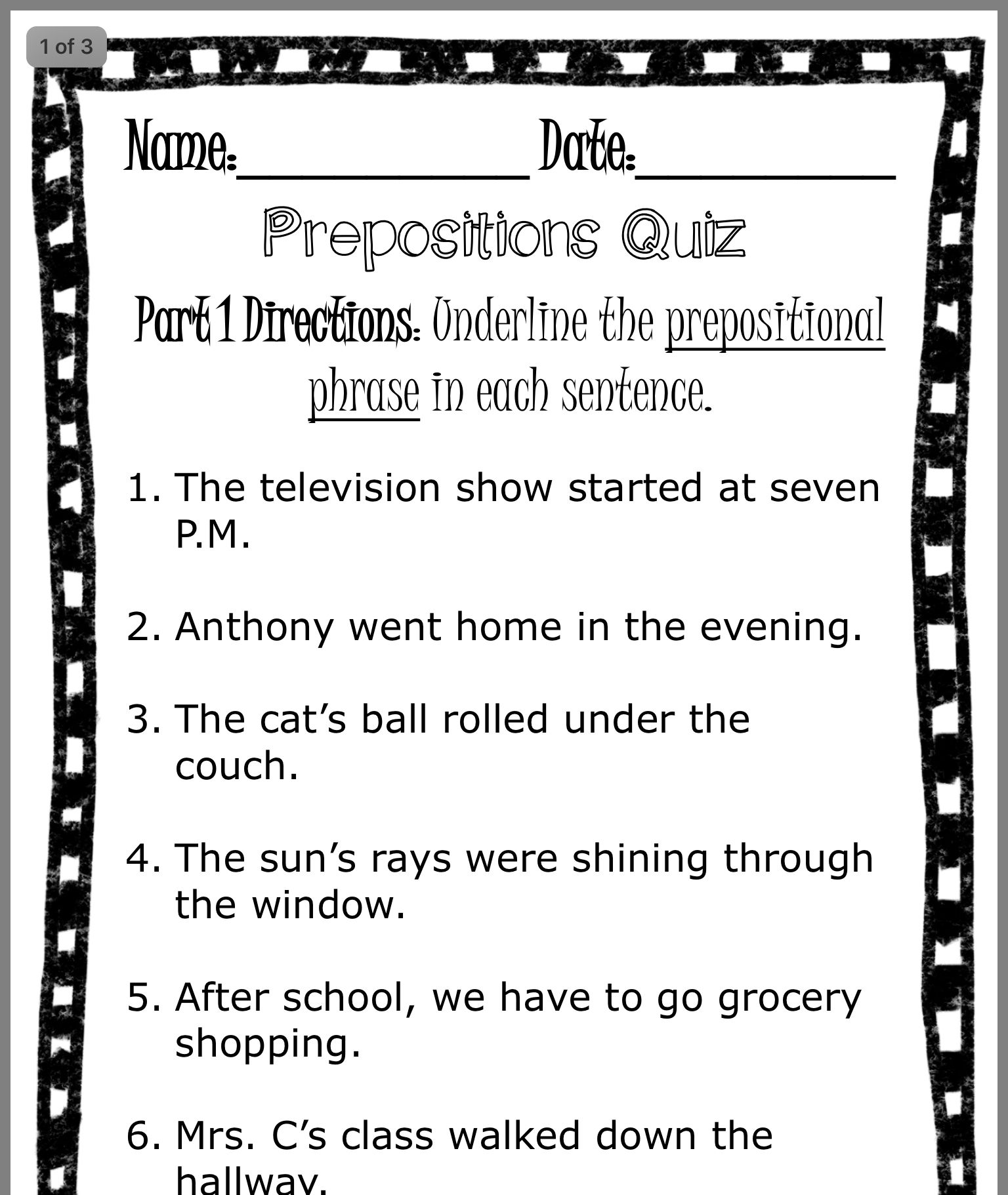 Pin By Becky Henry Render On 3rd Grade Parts Of Speech