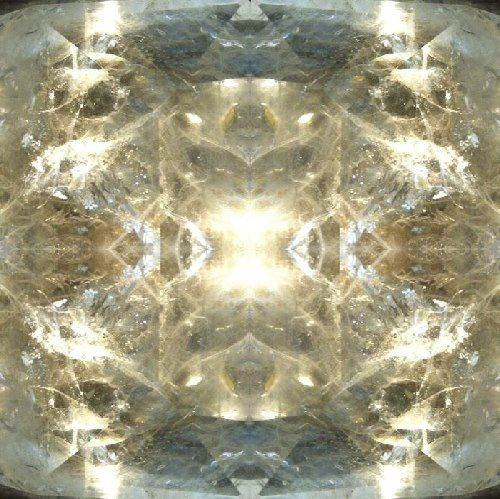 This image was made from quartz crystal, Dancing with spirit