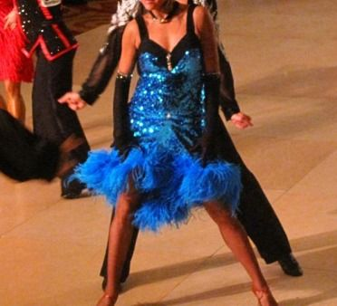 Blue Sparkly Dance Outfits