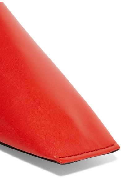 5f2e26239d6 Balenciaga - Leather Slippers - Red - IT35.5
