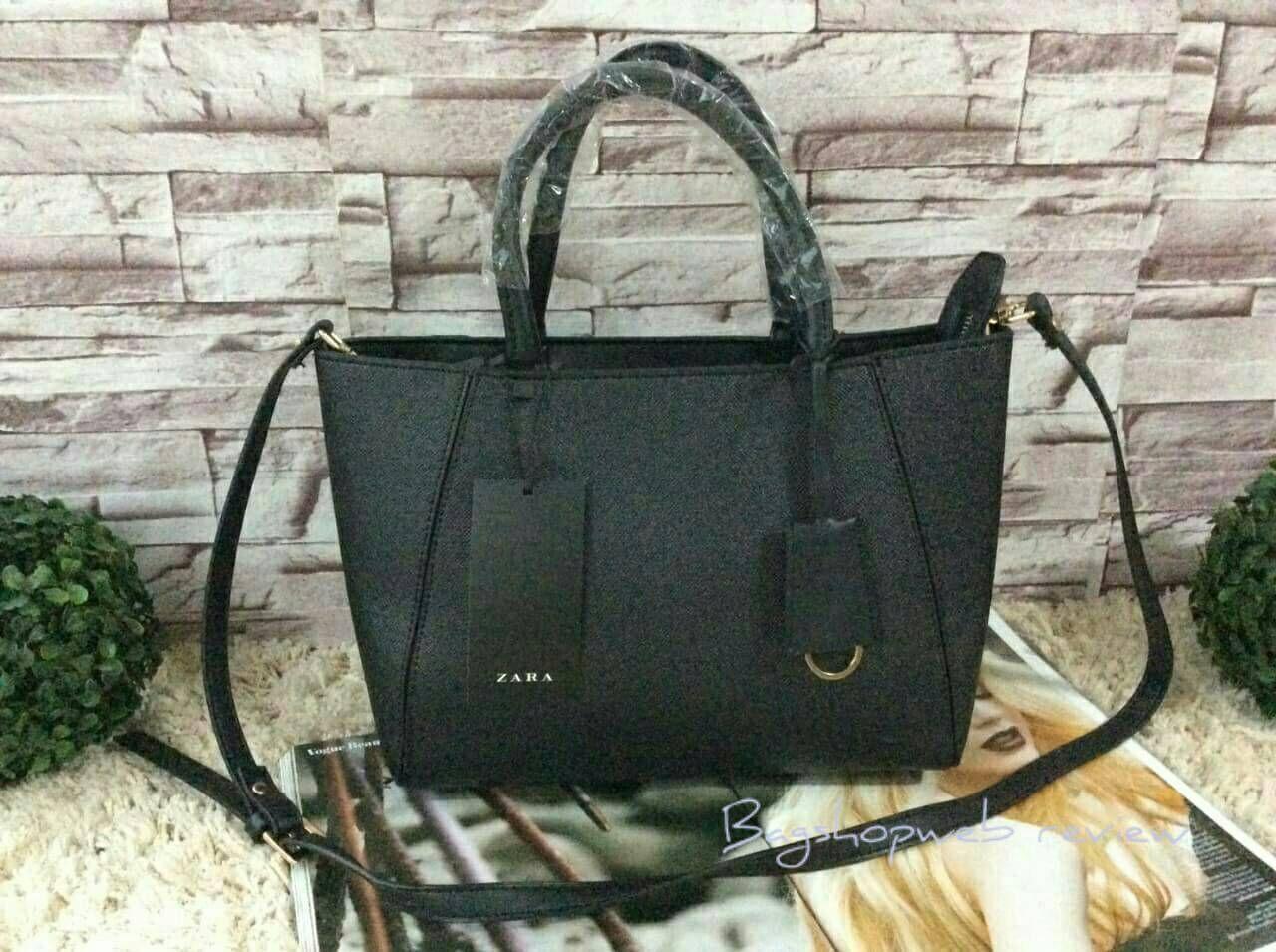 Mini leather tote bag zara -  Zara Mini Format Tote Bag 1 290 Ems