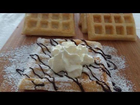 طريقة عمل حلوة الوافل Recette Des Gaufres Youtube Waffles Food Breakfast