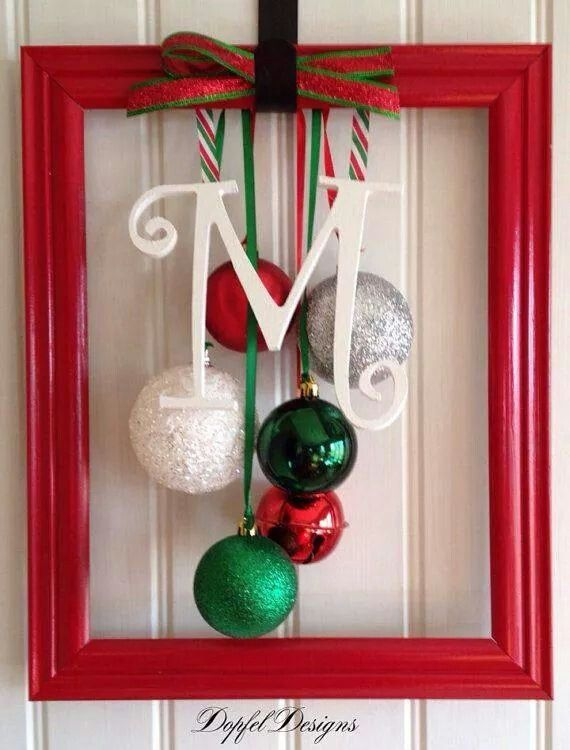 Amazing Christmas Picture Frame Craft Ideas Part - 11: Door Christmas Frame