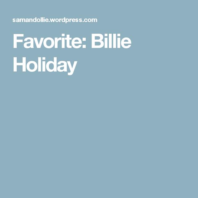 Favorite: Billie Holiday