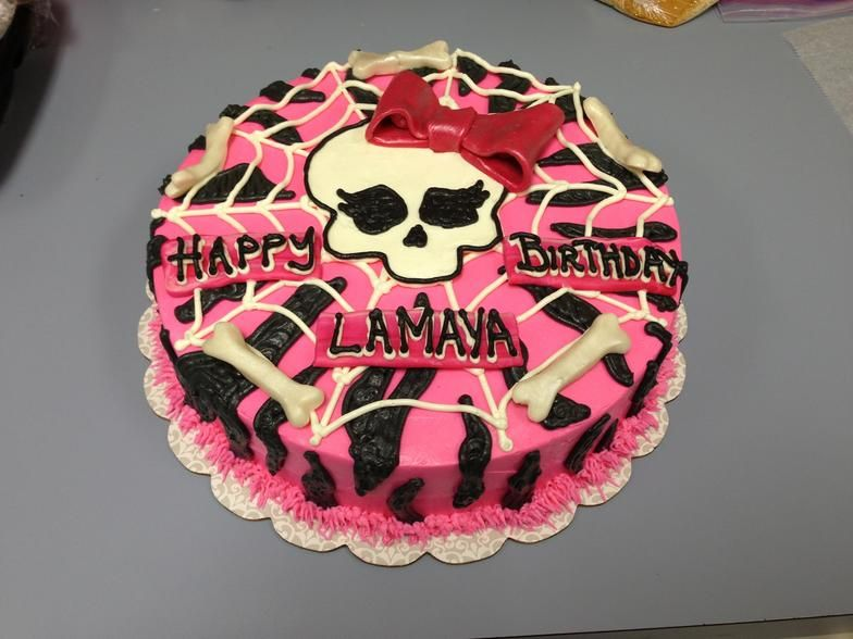 Magnificent Monster High Cakes At Walmart Specialty Cakes Cupcakes Cake Funny Birthday Cards Online Chimdamsfinfo