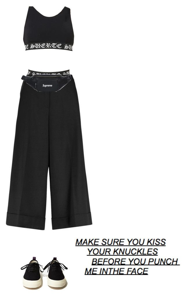 """""""Street black style"""" by djulia-tarasova ❤ liked on Polyvore featuring Goen.J and Eytys"""