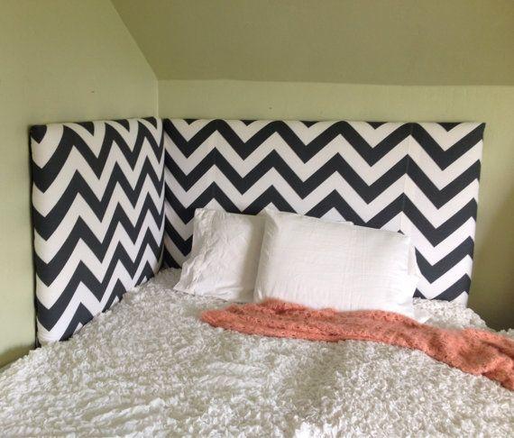 Upholstered Corner Headboard by BedheadDesigns on Etsy, $399.00 Rae's new room!!
