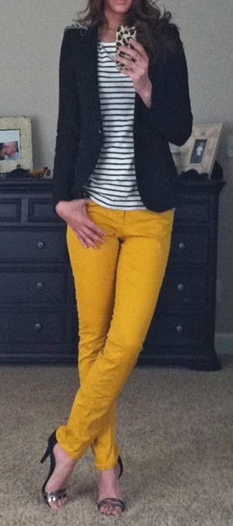 I Want The Same Jeans Love This Color Pantalones Mostaza Mujer Pantalon Amarillo Mujer Ropa Amarilla