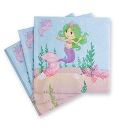 "6"" magical mermaids napkins (set of 16) - Chasing Fireflies"